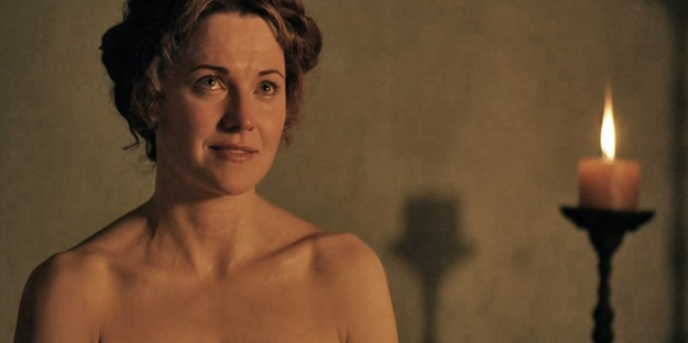 lesbian Lucy scene spartacus lawless